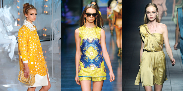 Summer Fashion 2012 - Yellow Floral Dresses