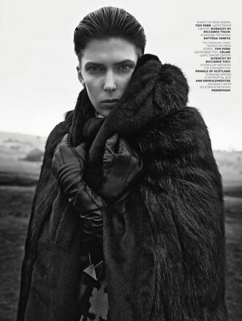 Faux Fur Coat, Russian Vogue, December 2012