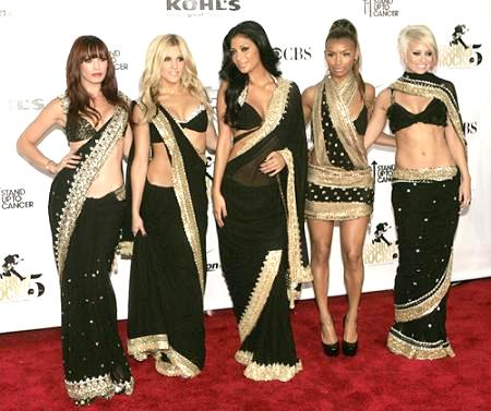 Pussycat Dolls in Saris
