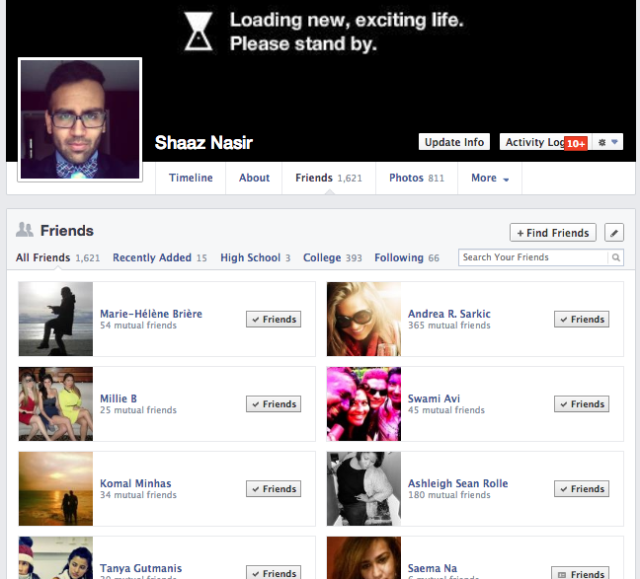 The easiest way to network on Facebook is with people who have many of the same mutual friends as yourself.