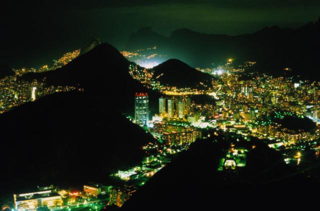 Rio de Janeiro at night.